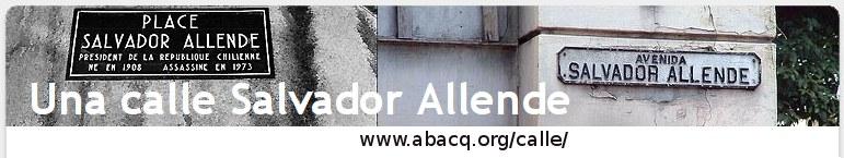 Una Calle Salvador Allende En El Mundo Una Calle Salvador Allende