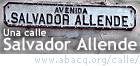 Una calle Salvador Allende ... en el mundo